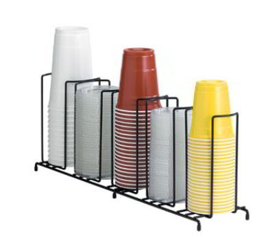 Dispense-Rite WR5 Lid/Cup Organizer, Wire Rack, 5 Section: (1)3-1/2 in, (2)