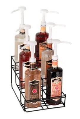 Dispense-Rite WRBOTL6 Bottle Organizer, Wire Rack, 6 Section, Reinforced Wel