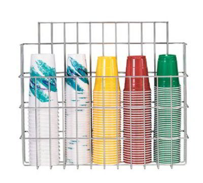 Dispense-Rite WRCC22 Cup Organizer, Wire Rack, All Cups Sizes Up To 5 in Dia, Stainless, NSF