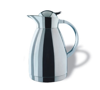 Service Ideas 0767000150 1.5-liter Coffee Server w/ Push-Button Lid, Stainless, 9.5-