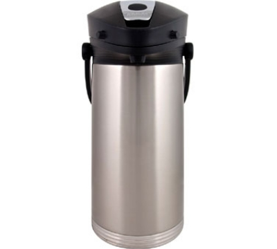 Service Ideas 10-00189-000 3-liter Airpot w/ Vacuum Insulation, Lever Lid, St