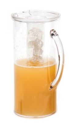 Service Ideas 50300720 2.8-liter Pitcher w/ Juice Tube And Lid, Cereal Lid, Polycarbonate