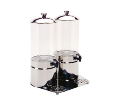Service Ideas 80702690 7-liter Double Juice Dispenser, Stainless