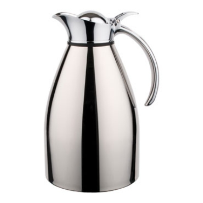 Service Ideas 98210 1-liter Carafe w/ Vacuum Insulation, Polished Stainless Finish