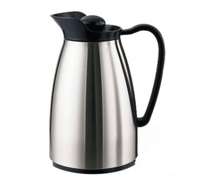 Service Ideas CGC060SS .6-liter Carafe w/ Glass Interior, Brushed Stainless, Bla