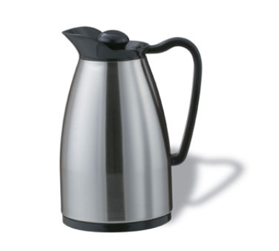 Service Ideas CGCS060SS .6-liter Carafe w/ Stainless Interior, Brushed Stainless, Bl