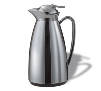 Service Ideas CJ1CH 1-liter Vacuum Carafe w/ Glass Liner, Polished Stainless