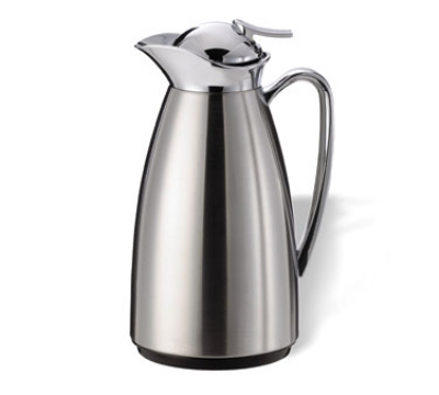 Service Ideas CJ1BS 1-liter Vacuum Carafe w/ Glass Liner, Polished