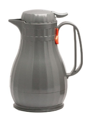 Service Ideas ECO6SLG .6-liter Server w/ Push Button Lid, Styrenic Resin, Slate Gre