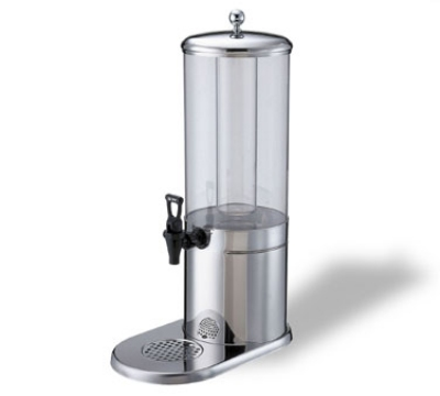 Service Ideas GSP1S4 4-liter Juice Dispenser w/ Polycarbonate Container, Stainless Base