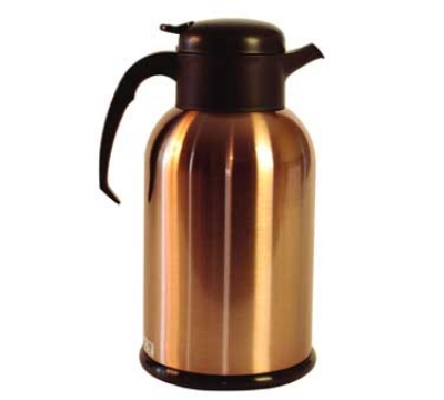 Service Ideas H100CB 1-liter Modern Coffee Server w/ Glass Liner, Copper & Brown