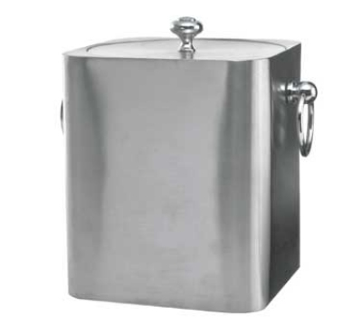 Service Ideas IBSQ3BS 3-liter Ice Bucket w/ Square Design, Brushed Stainless