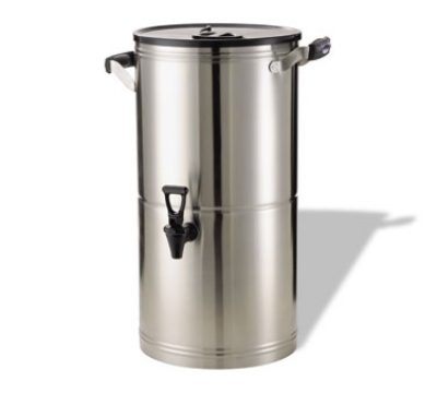Service Ideas IT5GPL 5-Gallon Tea Urn w/ Staggered Rubber Grip Handles, Stainless