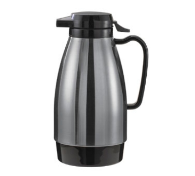 Service Ideas ML101MSSBL 1-liter Coffee Server w/ Push Button Lid, Sta