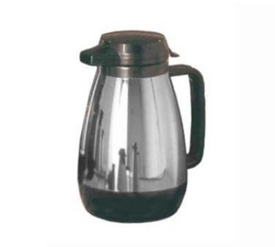 Service Ideas ML501CH/BL .6-liter Coffee Server w/ Push Button Lid, Chrome & Blac