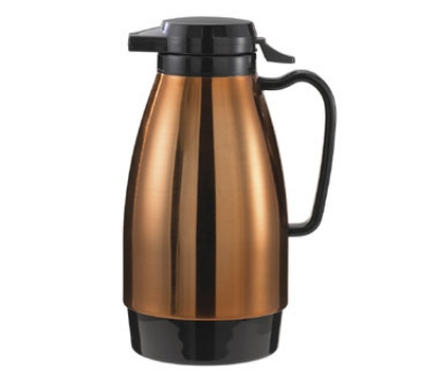 Service Ideas ML501MCPBL .6-liter Coffee Server w/ Push Button Lid, Copper & B