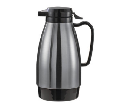 Service Ideas ML501MSSBL .6-liter Coffee Server w/ Push Button Lid,