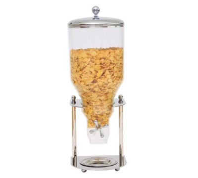 Service Ideas MULINO1S7 7-liter Single Cereal Dispenser w/ Windmill, Stainless Base