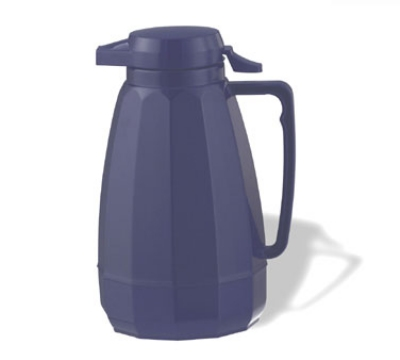 Service Ideas NG501CBT .6-liter Coffee Server w/ Push Button Lid, Cobalt Blue