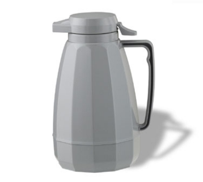 Service Ideas NG101GR 1-liter Coffee Server w/ Push Button Lid, Gray