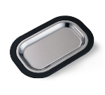 Service Ideas OT11BLC Complete Rectangular Platter Set, Small, Stainless Insert, Black
