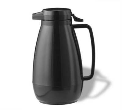 Service Ideas PB101BL 1-liter Coffee Server w/ Push-Button Lid, Black