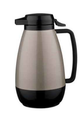 Service Ideas PB501MG .6-liter Coffee Server w/ Push-Button Lid, Metallic Gray