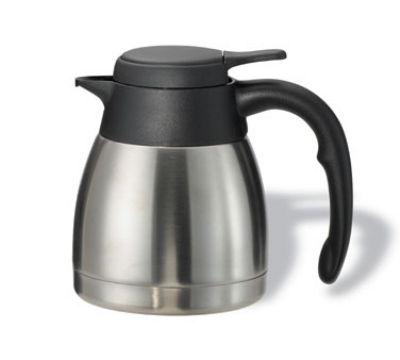 Service Ideas PWLA061 .6-liter Carafe w/ Push-Button Lid, Unbreakable Liner, Black Fi