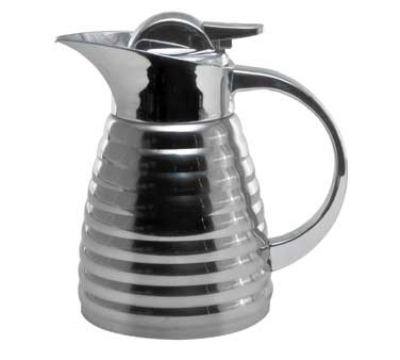 Service Ideas RLVP67 .6-liter Elite Coffee Server w/ Glass Interior, Mirrored Fi