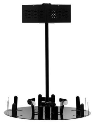 Service Ideas RRA6V2C Roto Rack w/ Signage Topper & Condiment Holder, Holds 6-Airpots
