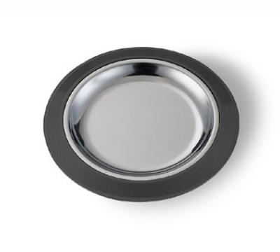 Service Ideas RT7BL 7-in Round Base For RT7SS Platters, Sloping Rim, Black