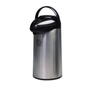 Service Ideas SSA300 3-liter Airpot w/ Interchangeable Pump Lid, Stainless &am