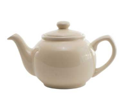 Service Ideas TPCE16CM 16-oz English-Style Teapot, Cream Ceramic