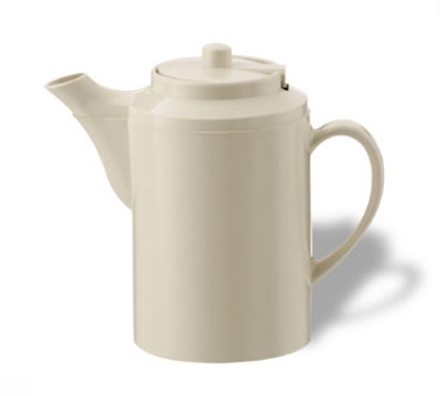 Service Ideas TST612AL 16-oz Dripless Teapot w/ Tether, Baffled Spout, Almond