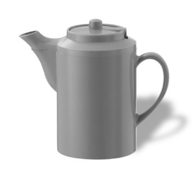 Service Ideas TST612GR 16-oz Dripless Teapot w/ Tether, Baffled Spout, Gray