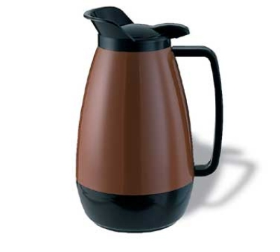 Service Ideas TS101CB 1-liter Coffee Server w/ Flip Top, Smooth Body, Copper & Blac