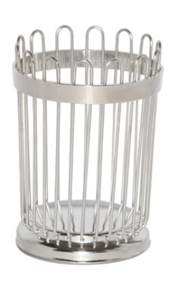 Service Ideas WBB5PS 5-in Wire Breadstick Basket w/ Weight