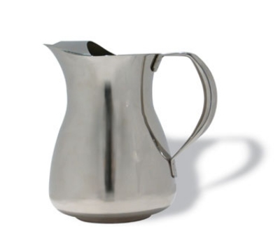 Service Ideas WPS2 2-liter Water Pitcher w/ Ice Guard, Stainless