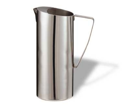 Service Ideas X7025 64-oz Water Pitcher w/ Ice Guard, Stainless, Chrome