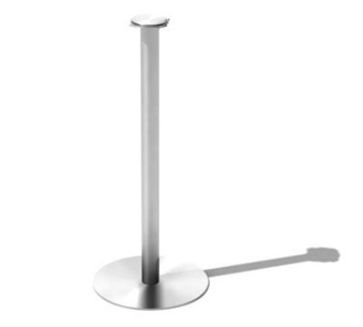 Service Ideas SB-4 Bucket Stand w/ 25 x 10-in Base, Stainless, Brushed Finish