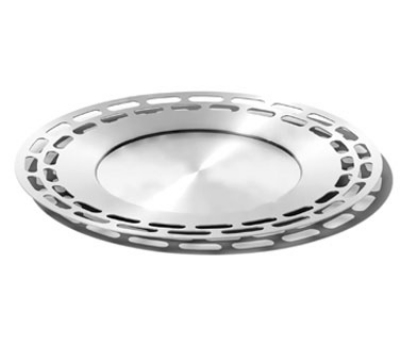 Service Ideas SB-47 15-in Heavy Round Tray, Stainless, Bru