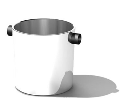 Service Ideas SM-3 2.4-qt Champagne Bucket w/ 7 x 7-in Base, Stainless, Mirror Finish