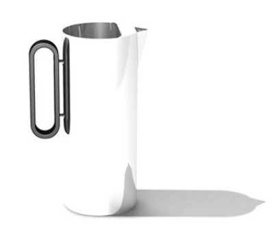 Service Ideas SM-23 64-oz Water Pitcher w/ Ice Guard, 4.25 x 9.5-in, Stainless, Mirror Finish