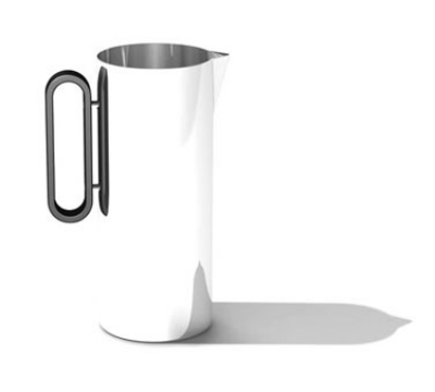 Service Ideas SM-24 64-oz Water Pitcher, 4.25 x 9.5-in, Stainless w/ Mirror Finish