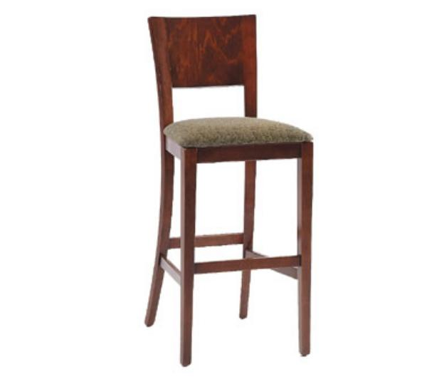 Waymar Industries B094A2 Napa Bar Stool Wood Back w/3 Slot Cutout 1-1/2inUpholstered Seat Restaurant Supply