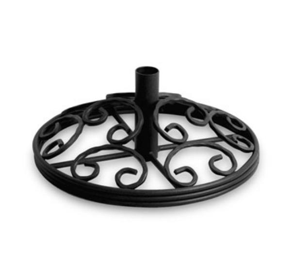 Waymar B120 Patio Umbrella Stand, 20 in Diameter, Wrought Iron