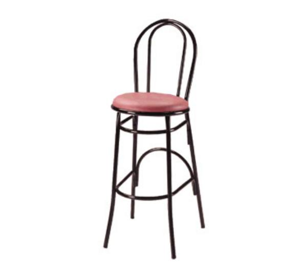 Waymar b1210 parlor bar stool metal open hairpin back 1 for Hairpin cafe chair