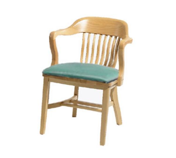 Waymar Industries C314A Federal Arm Chair Wood Spoke Back 1-1/2in Upholstered Seat Restaurant Supply
