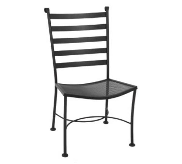 Waymar Industries C816 Patio Side Chair Ladder Back Wrought Iron Restaurant Supply