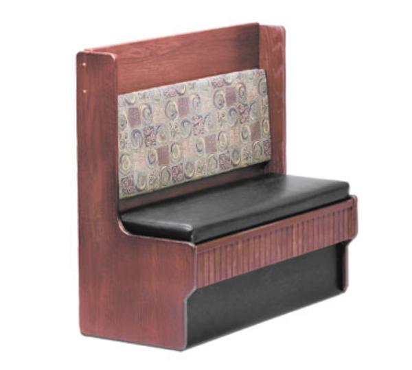 Waymar Industries CD248S Camden 2 Dining Booth Single 48inL Solid Wood w/ Upholstered Seat & Back Restaurant Supply
